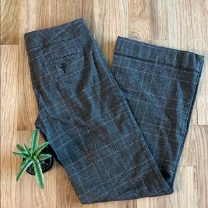 Express Sz0 Wide Leg Brown Plaid Business Pants
